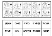 English Worksheets: Memory Game - Numbers