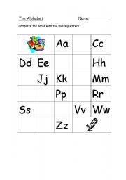 English teaching worksheets: The alphabet