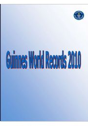 English Worksheets: Guinnes World Records 2010