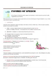 Worksheets Figures Of Speech Worksheet english teaching worksheets figures of speech speech