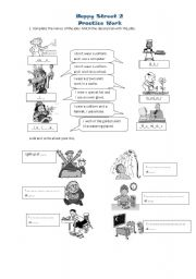 English Worksheets: unit 7happy street2