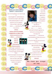 English Worksheets: Song: I�ll never say never - Justin Bieber