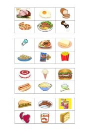 English Worksheet: Bingo : food and drinks