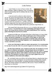 English Worksheets: Louis Pastuer