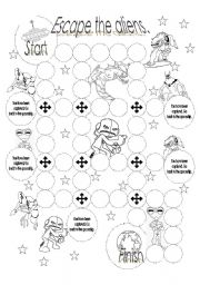 English Worksheets: Escape the aliens