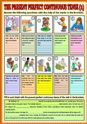 present perfect continuous exercises multiple choice pdf