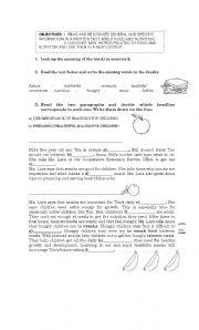 English Worksheets: HEALTHFUL SNACKS