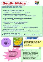 English Worksheet: South Africa