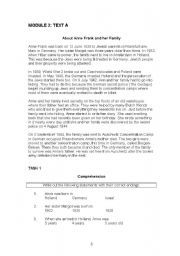 english teaching worksheets anne frank s diary. Black Bedroom Furniture Sets. Home Design Ideas
