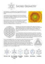 English Worksheets: Sacred Geometry