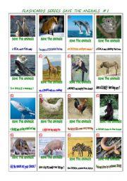 English Worksheets: Multipurpose flash-cards.  Animals # 1