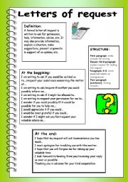 English Worksheets: Letters of request