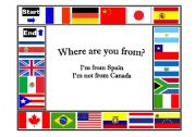 English Worksheet: Countries and Nationalities (Where are you from?)