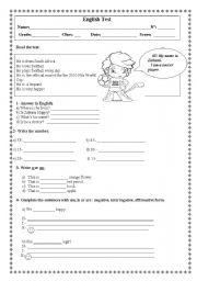 6th grade english test pdf