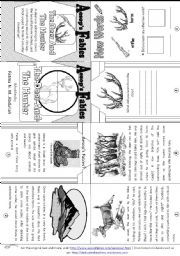English Worksheet: Aesop´s Fables: The Deer and the Hunter [ Mini-book ]