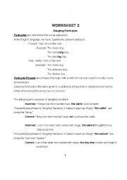 dangling participle worksheet