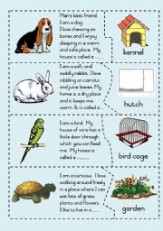 English Worksheets: Pets and their homes - Puzzle