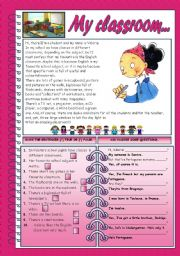English Worksheets: MY CLASSROOM...