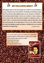 English Worksheet: Are you a Coffee Addict ?