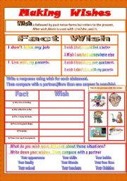 English Worksheet: Making Wishes