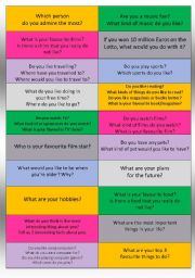 English Worksheet: Questions About You [advanced]