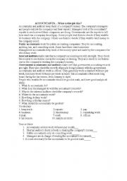 English Worksheets: ACCOUNTANTS