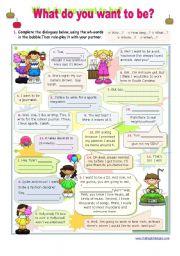 English Worksheet: Dialogue series -