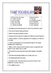 Fame Vocabulary