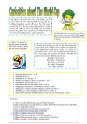 English Worksheet: Curiosities aboout The World Cup