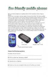 Eco-friendly mobile phones