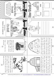 English Worksheet: Aesop´s Fables: The Deer In The Ox-Stall [ Mini-book ]