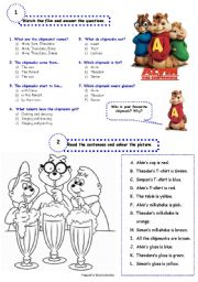 English Worksheets: Alvin and the chipmunks - video activities
