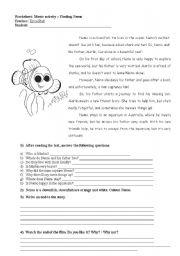 English Worksheets: nemo