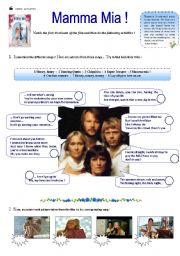 English Worksheet: Mamma Mia !