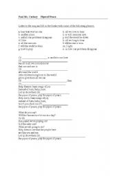 English Worksheets: Pipes of Peace (The Beatles) Song activities.