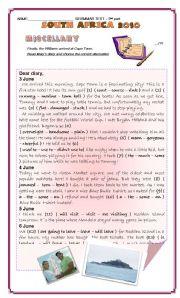 English Worksheet: GRAMMAR TEST - SOUTH AFRICA