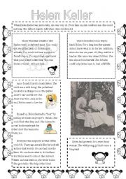 English teaching worksheets: Helen Keller