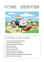 Vocabulary worksheets > Hobbies > The picnic