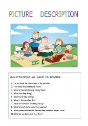 English Worksheet: Family  picnic