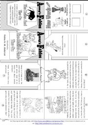 English Worksheet: Aesop´s Fables: The Heifer and The Ox [ Mini-book ]