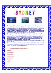 Sydney, reading comprehension