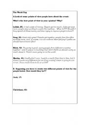 English worksheet: The World Cup