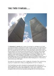 English Worksheets: Twin Towers