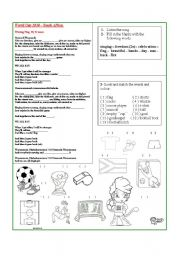 English Worksheet: song: World Cup 2010 - Waving Flag - vocabulary about team