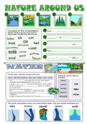 English Worksheet: NATURE AROUND US