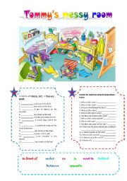 English Worksheet: Tommy�s messy room