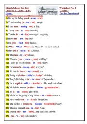 English Worksheets: click on1  revision