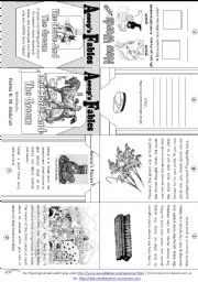 English Worksheets: Aesop�s Fables: The Horse and The Groom [ Mini-book ]