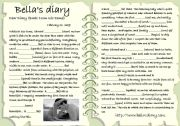 English Worksheets: BELLA CULLEN�S DIARY
