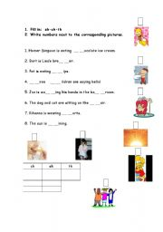 English Worksheets: ch-sh-th: practice